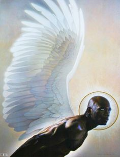Black Art Depot Today - Page 5 of 50 - Your Source for News About African American Art Male Angels, Black Angels, African American Artist, African Art, Thomas Blackshear, Arte Fashion, Black Artwork, Afro Art, Angel Art