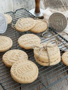Cookie stamps: Vanilla Sugar Cookie recipe