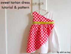 sweet tartan dress tutorial and pattern by skirt as top 2/3t