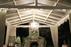 New Years Eve Sparkle - French Country Cottage French Country Cottage, French Country Style, Country Living, Outdoor Rooms, Outdoor Living, Outdoor Decor, Outdoor Ideas, Porch Gazebo, Screened Porches