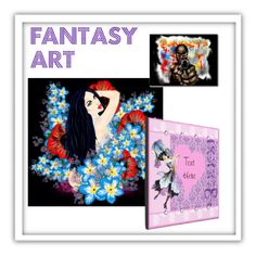 """""""Fantasy Art decor and accessories"""" by pinkypkawaiigirl on Polyvore"""