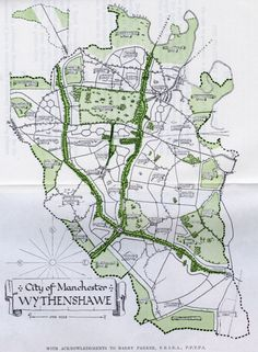 Plan for the Wythenshawe Estate in Manchester, c.1920s