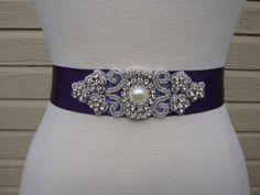 Bridal Sash  Wedding Dress Sash Belt  Plum by BellaFleurBridal, $30.00