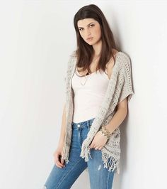 Fringed Overpiece for those chilly nights you still want to look chic.