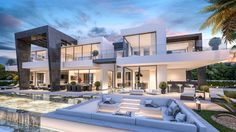 Construction and design of luxury villa for sale in the area of Marbella and the Costa del Sol by the builder and architects in Marbella By Nok.