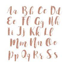 Rose Gold Glitter Alphabet Alphabet Clipart Glitter Letters Etsy In 2021 Glitter Letters Lettering Alphabet Clip Art