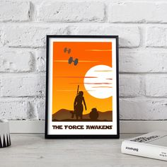 Star Wars Poster print wall art decor gift The Force Awakens Office Wall Decor, Wall Art Decor, Wall Art Prints, Star Wars Poster, Star Wars Art, Poster Wall, Poster Prints, Map Art, Gift