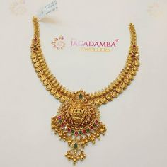 Jagadamba Jewellers. <br> Ram nagar.Hyderabad. <br> Contact : 098662 73727. 22 December 2018 Gold Earrings Designs, Necklace Designs, Gold Chain Design, Gold Necklace, Choker Necklaces, Necklace Set, Gold Jewelry Simple, Handmade Jewellery, Gold Jewellery