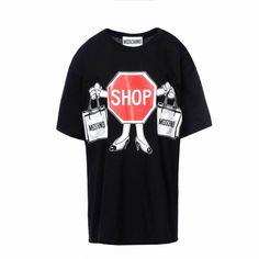 Moschino SHOP Womens Short Sleeve Short Dress Black