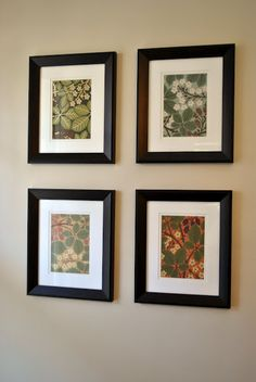 What to do with Bradbury wallpaper samples?  Frame them!  Shelley Inspired: Wallpaper Wall Art #bradburywallpaper
