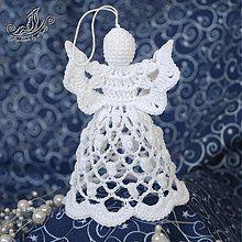 - Háčkovaný anjelik popcornový - 1881201