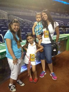 Shaila, mom, and sisters - Miami Marlins game
