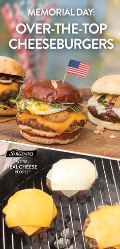 Reign supreme at your barbecue this long weekend with these unique flavor combinations! Our 100% real, natural cheese slices make every burger taste 100% awesome. Get the full recipe on our site: www.sargento.com/recipes/cheeseburgers
