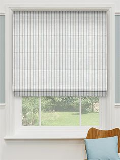 Infuse a splash of Coastal appeal with the Georgetown Harbour Blue Roman Blind made with 100% Cotton.