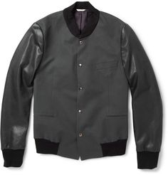 Paul Smith for Mr. Porter Cotton/Leather Varsity Jacket