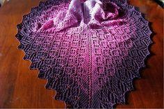 Tuch stricken Anleitung: Tuch Lavendelreigen von Monika Theile