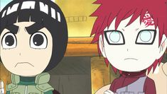 Gaara and Lee. This is rock Lee and is ninja pals right?? I think so