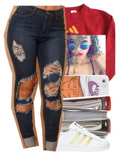 """read description "" by litlike-dest ❤ liked on Polyvore featuring adidas"