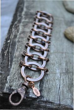 Copper Washer . A chunky copper chain maille by ShelleyLChalmers