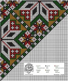 bringeklut 133 – Vevstua Bull-Sveen Cross Stitch Charts, Cross Stitch Designs, Cross Stitch Embroidery, Embroidery Patterns, Cross Stitch Patterns, Afghan Clothes, Sampler Quilts, Chart Design, Peyote Patterns