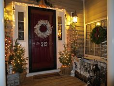 Exterior Doors | Down to Earth front entry decor for the holidays | Bayer Built Woodworks