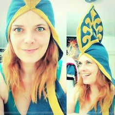 After tired comes stupid  .. or: when you try on the sleeve or your #zeldacosplay as a hat