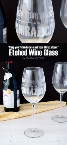 If you have a Wine lover in your family or friend circle then this DIY Shiraz Etched Wine Glass will make the perfect gift!!! Nothing tells how much you love someone than a handmade gift! Come and check it out!