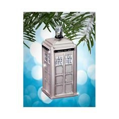Doctor Who: 50th Anniversary Tardis Ornament. lol. Do I need to tell again that I TOTALLY NEED THIS???!!!