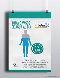 Diseño publicitario/Diseño de infografía/ Stop Diseño Gráfico - Diseño de Cartel INCan Saludable R4 - Sanofi
