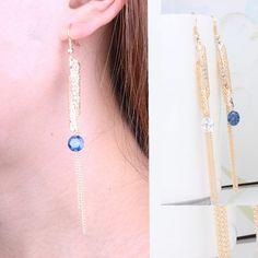 Fashion  Crystal Tassel Earrings Women Long Design Drop Dangle Earring $5.99