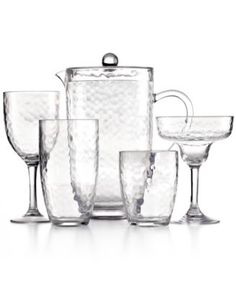 martha stewart collection hammered acrylic clear drinkware collection macyscom