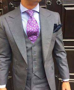 Mens Fashion Suits, Mens Suits, Beard Suit, Suit Combinations, Executive Fashion, Paisley Dress, Well Dressed Men, Couture, Smart Menswear