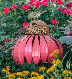 Main image for Coneflower Bird Feeder and Garden Stake