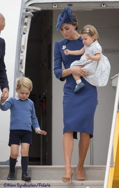 Kate, William, George, and Charlotte arrive in Canada to kick off their tour