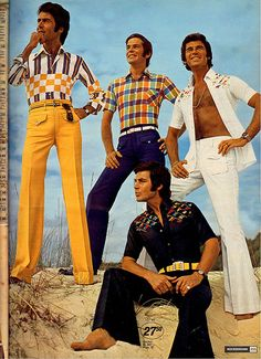Polyester and the beach...yeah. Those go hand in hand.