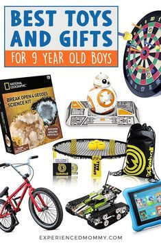 Looking for Christmas gift ideas for kids? As a mom with an active and fun-loving nine-year-old boy, here are over 25 best gift ideas for boys that I love and recommend. You can be sure to find the best toys and gifts for 9 year-old-boys here! Unique Gifts For Boys, Gifts For Kids, Fun Gifts, Birthday Gifts For Boys, Boy Birthday Parties, 9 Year Old Christmas Gifts, Christmas Ideas, Christmas 2019, Stocking Stuffers For Boys
