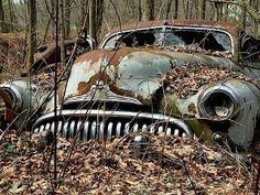 Rip rusted metal.