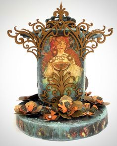 Hang on to those empty Altoid Mints tins for altered art projects. Creative approach to making an altered art shrine from the steampunk perspective.