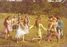 Hippie Communes 1960S | dancing flower child hippies commune nature love peace
