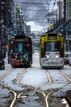 Sapporo / 札幌 Snow Miku Train / 雪ミク電車