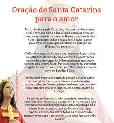 oracoes de santa catarina para o amor