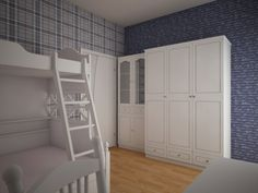 Projekt pokoju dla dwóch dziewczynek 11l i 8l. W projekcie wykorzystano meble z serii romantycznej oraz tapety marki Esta Home.