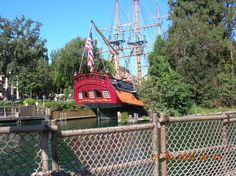 Disneyland, California: just casually a boat on the monsterous piece of land that is Disneyland! What a lucky 6 year old I was!