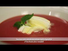 Erdeigyümölcs-krémleves vaníliafagylalttal - konyhatévés felvétel (2013) - Az én alapszakácskönyvem - YouTube Pudding, Desserts, Youtube, Food, Flan, Postres, Puddings, Deserts, Hoods