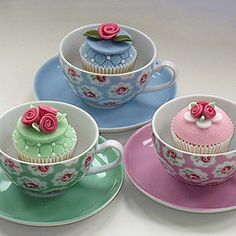 Cath Kidston tea party cupcakes..love this idea for a baby shower or girls birthday party