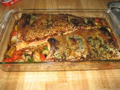 Roasted Salmon with herb butter crust a la Tyler Florence Ingredients ...