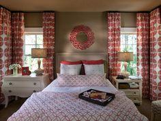 MASTER BEDROOM IDEA :: CURTAINS WRAP AROUND Bedroom Design Ideas