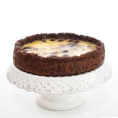 tarte de chocolate e cereja