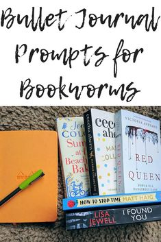 Bullet journal prompts for bookworms