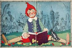 """The """"pop-up"""" Pinocchio : being the life and adventures of a wooden puppet who finally became a real boy with """"pop-up"""" illustrations in color by Harold Lentz. New York : Blue Ribbon Books, c1932."""